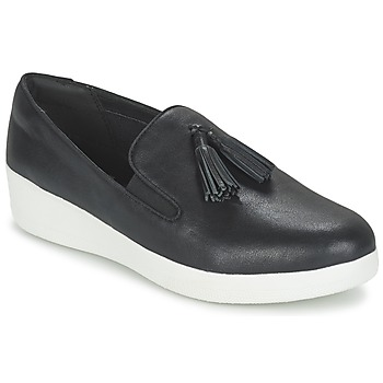 Shoes Women Slip ons FitFlop TASSEL SUPERSKATE Black