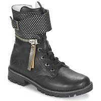 Shoes Girl Mid boots Ikks PEGGY Black