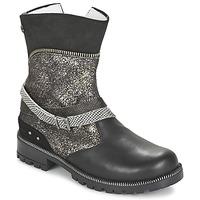 Shoes Girl Mid boots Ikks ROBERTA Black / Grey