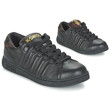 Shoes Women Low top trainers K-Swiss LOZAN TONGUE TWISTER Black / Gold