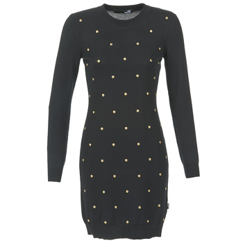 material Women Short Dresses Love Moschino JACHI Black / Gold