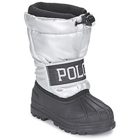 Shoes Girl Snow boots Ralph Lauren JAKSON Silver / Black