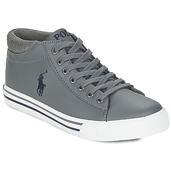 Shoes Boy High top trainers Polo Ralph Lauren HARRISON MID Grey