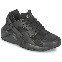 Shoes Children Low top trainers Nike HUARACHE RUN JUNIOR Black