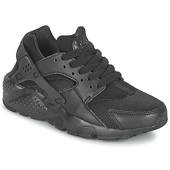 Shoes Boy Low top trainers Nike HUARACHE RUN JUNIOR Black