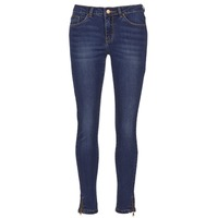 material Women slim jeans Yurban FOLDINE Blue