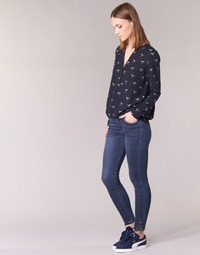 material Women slim jeans Yurban IFABANE Blue