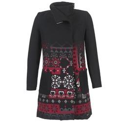 material Women coats Desigual JEFINITE Black / Red