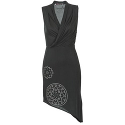 material Women Short Dresses Desigual RAZIANA Black
