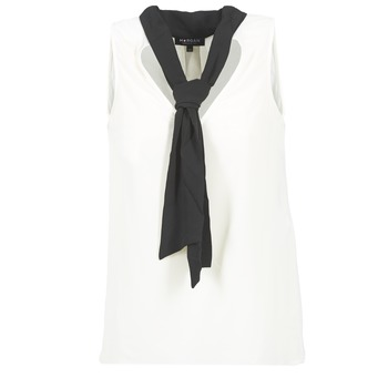 material Women Blouses Morgan OREA White / Black