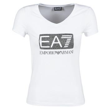 material Women short-sleeved t-shirts Emporio Armani EA7 FOUNAROLA White