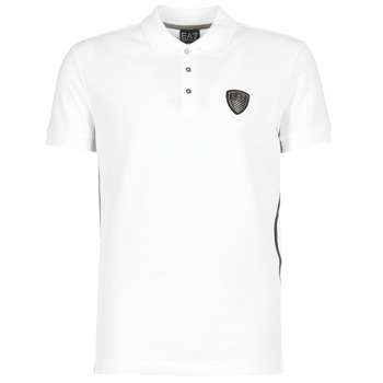 material Men short-sleeved polo shirts Emporio Armani EA7 ONTRAFOL White