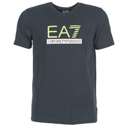 material Men short-sleeved t-shirts Emporio Armani EA7 JANTLOA Marine