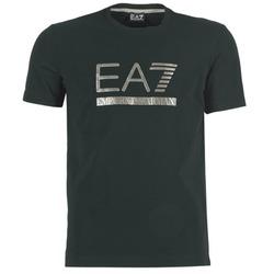 material Men short-sleeved t-shirts Emporio Armani EA7 MAGGAROL Black