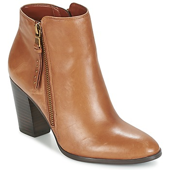 Shoes Women Low boots Ralph Lauren FAHARI COGNAC