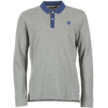 material Men long-sleeved polo shirts Gaudi SOUXAN Grey