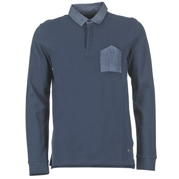 material Men long-sleeved polo shirts Gaudi SOUXIN Marine