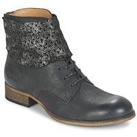 Shoes Women Mid boots Kickers PUNKYZIP Black / Brillant