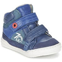 Shoes Boy High top trainers Kickers JINJINU Blue