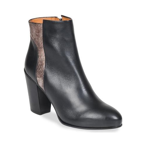 Shoes Women Ankle boots Emma Go BOWIE Black / Metallic