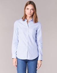 material Women Shirts Casual Attitude FANFAN White / Blue