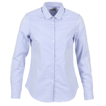 material Women Shirts Casual Attitude FANFAN White / Blue