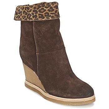 Shoes Women Ankle boots Vic VANCOVER GUEPARDO Brown / Leopard
