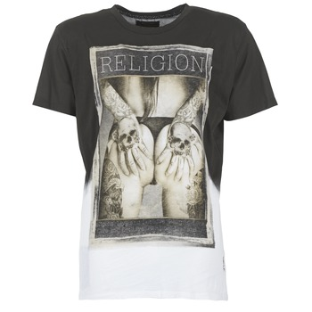 material Men short-sleeved t-shirts Religion GRABBING White / Black