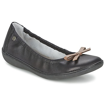 Shoes Women Ballerinas TBS MACASH Black / Taupe