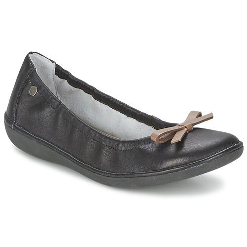 Shoes Women Ballerinas TBS MACASH Black / Taupe