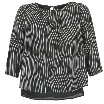 material Women Blouses Betty London FADILIA Black / White