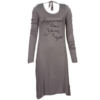 material Women Short Dresses Kaporal TALET Grey
