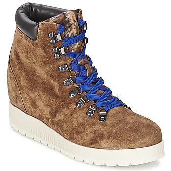 Shoes Women Ankle boots Alberto Gozzi VELOUR MARRONE Brown