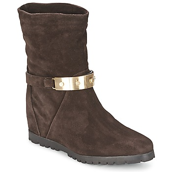 Shoes Women Ankle boots Alberto Gozzi VELOUR PEPE Brown