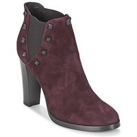 Shoes Women Ankle boots Alberto Gozzi CAMOSCIO NEIVE BORDEAUX