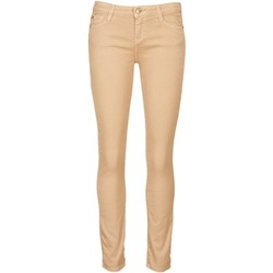 material Women cropped trousers Acquaverde SCARLETT Cream