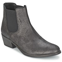 Shoes Women Mid boots Meline ZADIA Black / Metallic