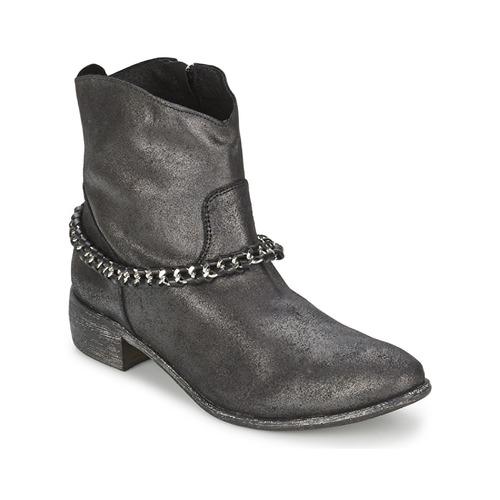 Shoes Women Mid boots Meline VUTIO Black / Metallic