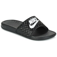 Shoes Women Sliders Nike BENASSI JUST DO IT W Black / White