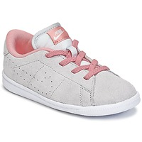 Shoes Girl Low top trainers Nike TENNIS CLASSIC PREMIUM TODDLER Grey / Pink