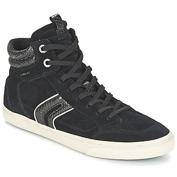 Shoes Women High top trainers Geox D NEW CLUB Black / Grey