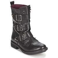 Shoes Women Mid boots Ikks RANGER-COLLECTOR-BOUCLE Black