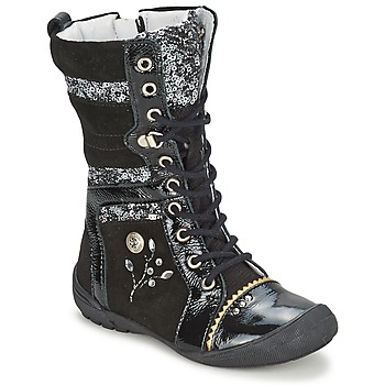 Shoes Girl Mid boots Catimini CYLENE Black / Dpf