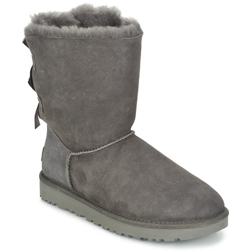 UGG BAILEY BOW II Grey - Free delivery with Spartoo NET ! - Shoes ... 0dcb126860204