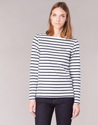 material Women Long sleeved shirts Betty London FLIGEME White / Blue