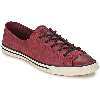 Shoes Women Low top trainers Converse Chuck Taylor All Star FANCY LEATHER OX Bordeaux