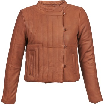 material Women Leather jackets / Imitation le Antik Batik YOANN Cognac