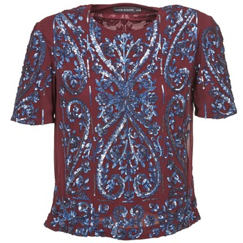 material Women Blouses Antik Batik NIAOULI Bordeaux