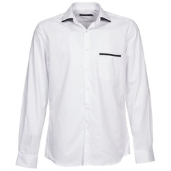 material Men long-sleeved shirts Pierre Cardin ANTOINE White