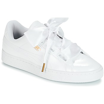 Shoes Women Low top trainers Puma BASKET HEART PATENT WN'S White